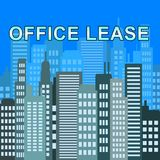 Kontorsarrendet beskriver illustrationen för Real Estate kontor 3d Arkivfoto