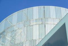 Kontorsbyggnad för modern design med det glass paneltaket Arkivfoto