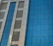Kontorsbyggnadbaner Arkivfoto
