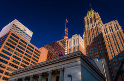 Kontorsbyggnader i Baltimore, Maryland. royaltyfri foto