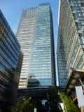 Kontorsbyggnader i Tokyo, Japan arkivfoto
