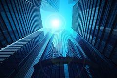Kontorsbyggnader och bank Arkivfoton