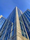 Kontorsbyggnader som skyling royaltyfri bild
