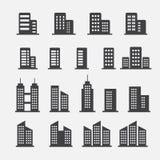 Kontorsbyggnadsymbol Arkivfoton