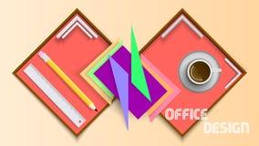 Kontorsdesign stock illustrationer