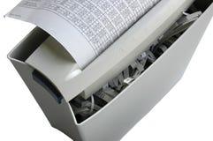 kontorsdokumentförstörare Arkivbild