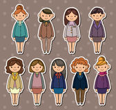 kontorsetikettskvinna vektor illustrationer