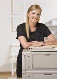 kontorskvinna Royaltyfri Bild