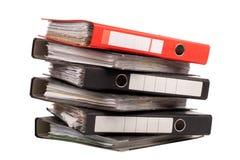 Kontorsmappar arkivbild