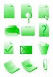 Kontorssymboler Arkivfoton