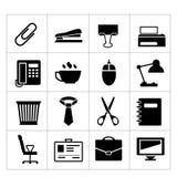 Kontorssymbolsuppsättning Arkivbild