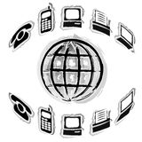 kontorsteknologi royaltyfri illustrationer