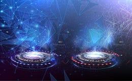 Kontra blå och röd RGBVS futuristisk design vektor illustrationer