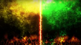 Kontra kampbakgrund Animering för strid- och jämförelsebegreppsögla Vs konkurrens för stridkampsportar stock video