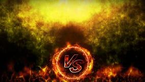 Kontra kampbakgrund Animering för strid- och jämförelsebegreppsögla Vs konkurrens för stridkampsportar arkivfilmer
