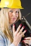 kontrahenta domu naprawy kobieta Zdjęcia Royalty Free
