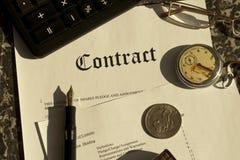 kontrakt Obrazy Stock