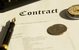 kontrakt obrazy royalty free