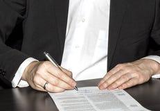 Kontrakt Obraz Stock