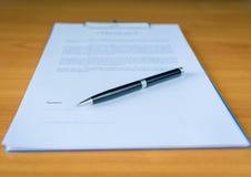 Kontrakt dla sprzedaży Nowy Domowy lorem ipsum - sfałszowany tekst obraz royalty free