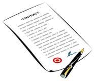 kontrakt podpisujący Obraz Royalty Free
