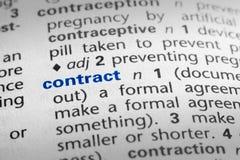 kontraktacyjna definicja Obraz Stock