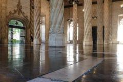 Kontraktacyjny Hall Sala De Contratacion w Jedwabniczym Wekslowym Lonja De Los angeles Seda w Walencja Fotografia Stock