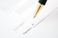 kontraktacyjny podpisywanie fotografia royalty free