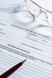 kontraktacyjny podpisywanie Obraz Stock