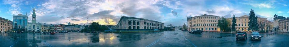 Kontraktova广场在秋天 图库摄影
