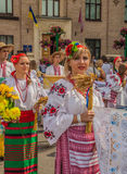 Kontraktova area in Podil delegation from the Poltava region in Royalty Free Stock Photos