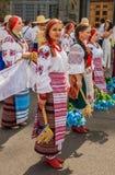 Kontraktova område i den Podil delegationen från den Poltava regionen in Fotografering för Bildbyråer