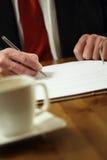 kontraktskrivning arkivbilder