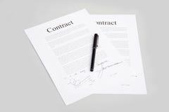 kontrakty zdjęcia royalty free