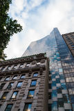 Kontrast architektura, Nowy Jork zdjęcie royalty free