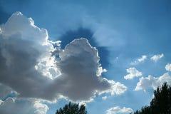 Kontrast chmura Obraz Royalty Free