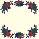 Kontrast rama z kwiatów składami Ilustracja Wektor