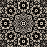 kontrast wysoki kwiecisty mandala Obrazy Royalty Free