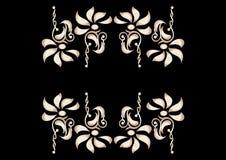 kontrasta dekoracyjny elementów kwiat Fotografia Stock