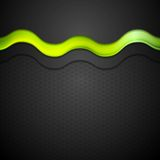 Kontrasta gradientowy tło z zieleni łuny fala ilustracji