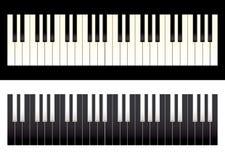 kontrasta klawiatury pianino Obraz Stock