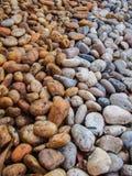 Kontrastierende Farben der Steine Stockfoto