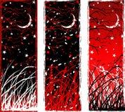 Kontrastreiche gotische vertikale Nachtfahnen