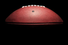Kontrastreicher horizontaler amerikanischer Fußball Lizenzfreies Stockfoto