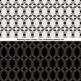 Kontrastujący wzory Ustawiających Obrazy Royalty Free