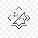 Kontrastuje wektorową ikonę odizolowywającą na przejrzystym tle, liniowym ilustracja wektor