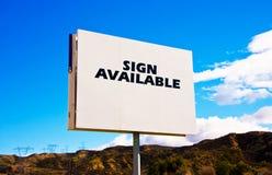 kontrola drogowa billboardu white obrazy stock