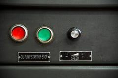 Kontrola guzików początku przerwa dla zapasu ropy diagnostyka paliwa wyposażenie Fotografia Royalty Free