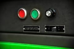 Kontrola guzików początku przerwa dla zapasu ropy diagnostyka paliwa wyposażenie Obraz Stock
