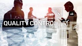 Kontrola jakości i zapewnienie standardisation gwarancja standardy Biznesu i technologii pojęcie zdjęcie stock